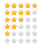 Rating star Royalty Free Stock Photography