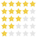 Rating star set Stock Photography