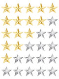 Rating stars Royalty Free Stock Photos