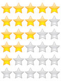 Rating stars. Isolated on white Stock Photo