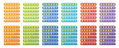 Rating stars vector illustration