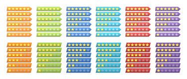 Rating stars Royalty Free Stock Images