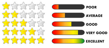 Rating stars and bars Royalty Free Stock Image
