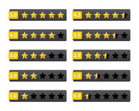Rating stars buttons Royalty Free Stock Photo