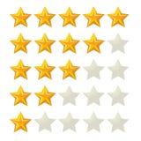 Rating stars design vector symbols icons Stock Photos