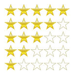 Rating stars design vector symbols icons Stock Images