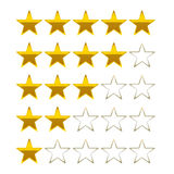 Rating stars golden vector symbols icons Stock Images