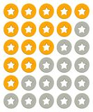 Rating stars. Icons. Vector Illustration Royalty Free Stock Photography