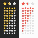 Rating stars isolated. Stock Photos