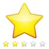 Rating stars isolated on white. Design element Vector illustration.  Stock Photography