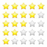 Rating stars isolated on white. Design element Vector illustration.  Royalty Free Stock Image