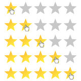 Rating stars set Royalty Free Stock Photography