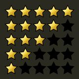 Rating Stars Set. Vector Stock Images
