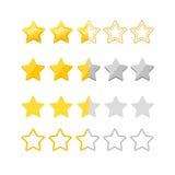 Rating Stars Set. Vector Stock Photo