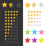 Rating Stars Set Stock Photography
