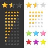 Rating Stars Set stock illustration