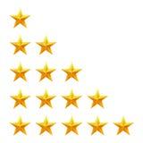 Rating stars set. Web or mobile User feedback Royalty Free Stock Image