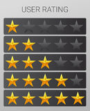 Rating stars set. Web or mobile User feedback Royalty Free Stock Photography