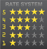 Rating stars set Stock Photos