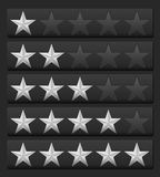 Rating stars royalty free illustration