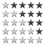 Rating stars Royalty Free Stock Photo