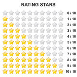 Rating Stars - 0 to 10 Stock Photography