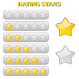 Rating Stars from 0 to 5 Royalty Free Stock Images