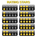 Rating Stars from 0 to 10 Stock Image
