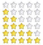 Rating stars for web site Royalty Free Stock Image