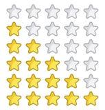 Rating stars for web site. Vector illustration of the Rating stars for web site Royalty Free Stock Image