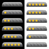 Rating stars for web Royalty Free Stock Photo