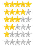Rating Stars Royalty Free Stock Image