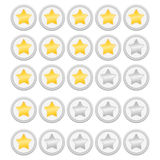 Rating Stars. On white background Stock Images