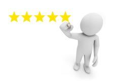 rating stjärna fem Arkivfoton