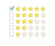 Rating symbol vector. Product rating star vector. Rating symbol vector Stock Image