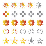 Rating Symbols Royalty Free Stock Photo
