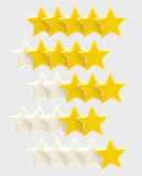 Rating system from one up to five stars Stock Photo