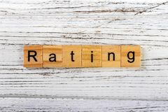 RATING word made with wooden blocks concept.  stock photography