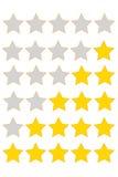 ratingowa gwiazda Obrazy Stock