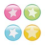 ratingowe gwiazdy Zdjęcia Stock
