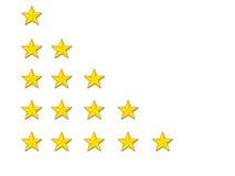 ratingowe gwiazdy Obraz Stock