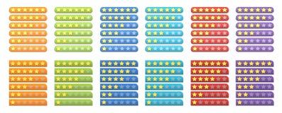 ratingowe gwiazdy Obrazy Stock
