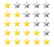 Ratingowe gwiazdy Obrazy Royalty Free