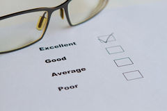 Ratings. Rating acts like a report card royalty free stock photo