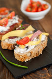 Ration assorted mini sandwiches Royalty Free Stock Photo