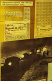 Ration cards on bread. Of blockade  Leningrad in 1941 Royalty Free Stock Photo
