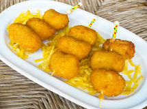 Ration of Croquettes. Typical tapa in Spain. Ration of Croquettes. Typical tapa of Spanish Cuisine Royalty Free Stock Photography