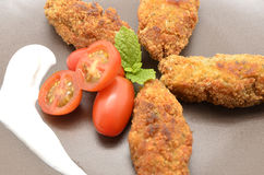 Ration of Croquettes. Typical Tapa of Spanish Cuisine Royalty Free Stock Photo