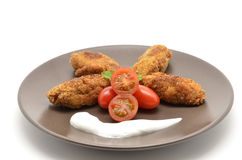Ration of Croquettes. Typical Tapa of Spanish Cuisine Stock Images