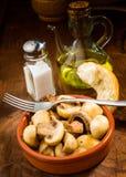 Ration stewed mushrooms Stock Photo